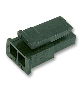 43645-0200 - Conector Raster, Femea,  2 pinos, 3mm - 43645-0200