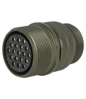 DS3101A22-14S - Ficha Amphenol Série DS/MS 19 Pin Femea - DS3101A22-14S