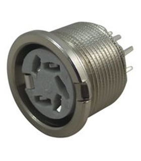 690-0510 - Conetor DIN, 5 Pinos, Painel, Soldar - 6900510