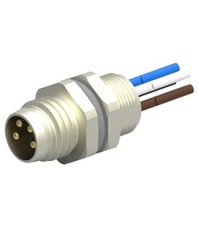 T4072014041-001 - Conector M8, Macho, 4 pinos, com cabo 20cm - T4072014041-001