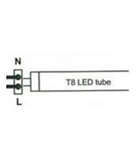 Lâmpada T8 LED 150cm 230VAC 24W 6500K 1920lm - MX3063954