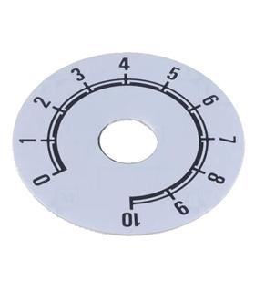 Escala Potenciometro 0-10 - 10x41mm - 220101