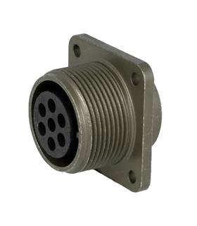 MS3102E16S-1S -  Conector Femea, 7 Pinos, DS/MS Series - MS3102E16S-1S