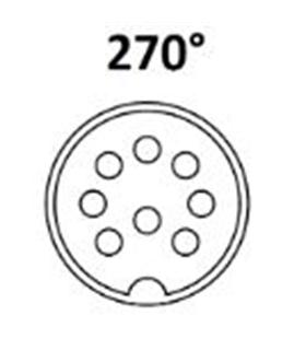 610-0800 - Conector DIN, Macho, 8 Pinos 270º, Cabo - 610-0800