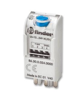 86.30.0.024.0000 - Módulo Temporizador, 12V..24V AC/DC - F8630024