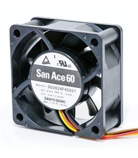 109P0524H7D01 - Ventilador 24V 50x50x15mm 3 Fios 1.2W - 109P0524H7D01