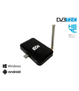 Sintonizador TDT para Android e Windows - Edision T2/C - EDICOMBOUSB