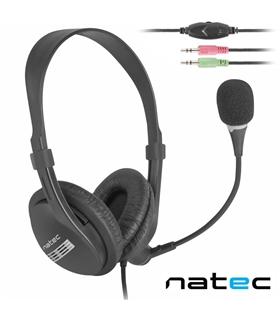 Auscultador com Fios NATEC Micro Incorporado - NSL-0294