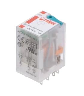 R2N-2012-23-1024-WTL - Rele DPDT 24VDC 12A - R2N2012231024WTL