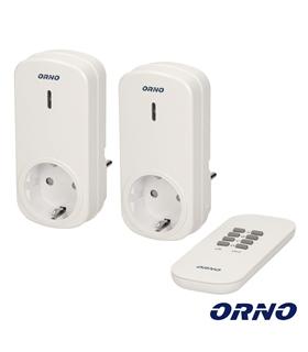 OR-GB-418 - 2 Tomada Eléctrica c/comando s/fios - ORGB418