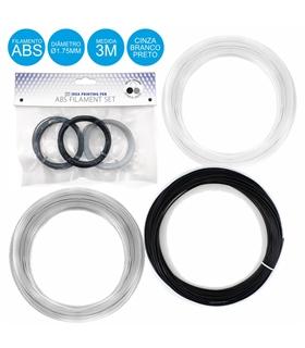 Pack de 3 Filamentos Impressao 3D - ABS3D3