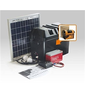 Kit iluminacao LED Solar com Bateria 60W Xunzel - SOLARLIFE60I