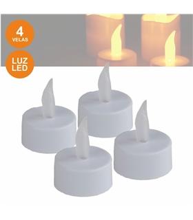 Conjunto de 4 velas LED - LAR695