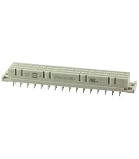 09062482834 - Conector DIN Femea, 48 Contactos, Serie 0906 - 09062482834