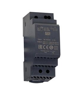 Alimentador: DC/DC; 30W; 15VDC; 2A; 18÷75VDC; Montagem: DIN - DDR-30L-15