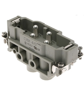CXM 4/2 - Conector HDC, 4+2 Pinos, 77.27, Macho, ILME - CXM4/2