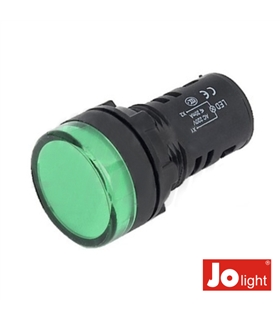 Sinalizador Redondo Painel 19.5mm 24V Verde - LL9058-4