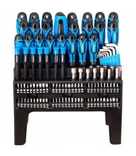 Conjunto chaves de fendas e bits com suporte - 114 peças - HT1S099