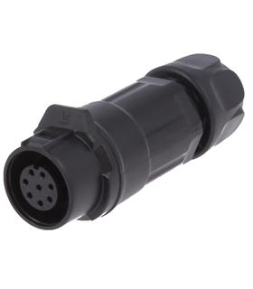 0260 08 - Conector, Circular, Femea, 8 Pin - 0260-08