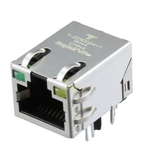 1-2250024-1 - Ficha RJ45 Para PCB, 90º - 1-2250024-1