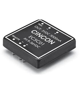 EC5C07 - Conversor DC/DC 5/12V 15W Cincon - EC5C07