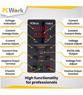 PCW07A - Fonte Alimentacao Bancada, 0-30V, 5A, USB #1 - PCW07A