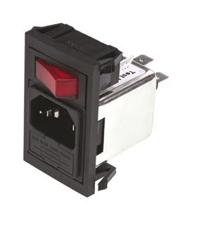 BZV01/A0620/02 - Filtro de Rede IEC C14 10A 250V, Fusivel - BZV01A062002