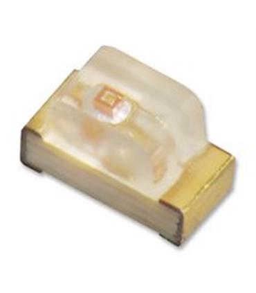 Led SMD, Amarelo, 1.6-2.4V, 20mA, 1206 - 124YD1206