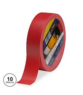 Rolo de Fita Isoladora 10mts Vermelha - FIS10R