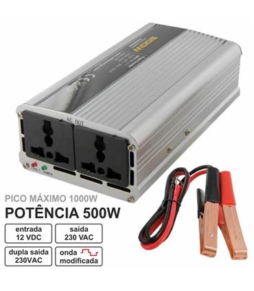 Conversor 12Vdc Para 230Vac 500W Onda Modificada - WE06583