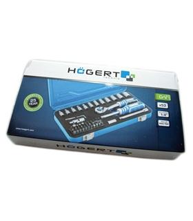 HT1R485 - Conjunto chaves caixa e bits - 53 peças Hogert - HT1R485