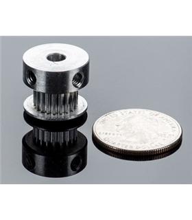 Polia em aluminio GT2 - 16 dentes 6mm Aluminio - GT2-16